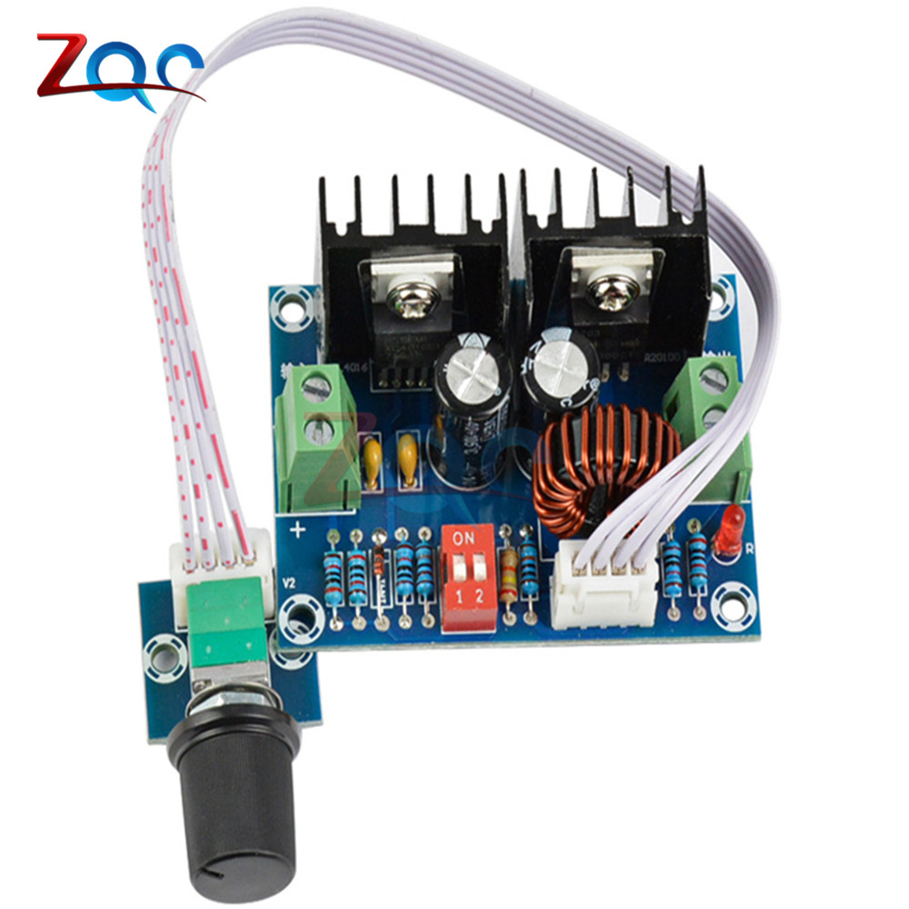 DC-DC Voltage Regulator Module 200W XL4016 Step Down Buck Module High Power 8A With External Potentiometer dc dc step down power supply module dc 4 40v to 1 25 36v 8a 200w high power voltage regulator pwm speed controller driver module