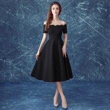 Hepburn stil einfache schwarze frauen Cocktailkleider größe 2-14 (318Q tian)