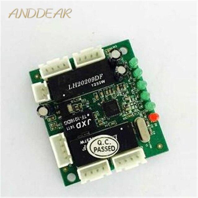 미니 모듈 디자인 이더넷 스위치 회로 보드 이더넷 스위치 모듈 10/100 mbps 5/8 포트 pcba 보드 oem 마더 보드