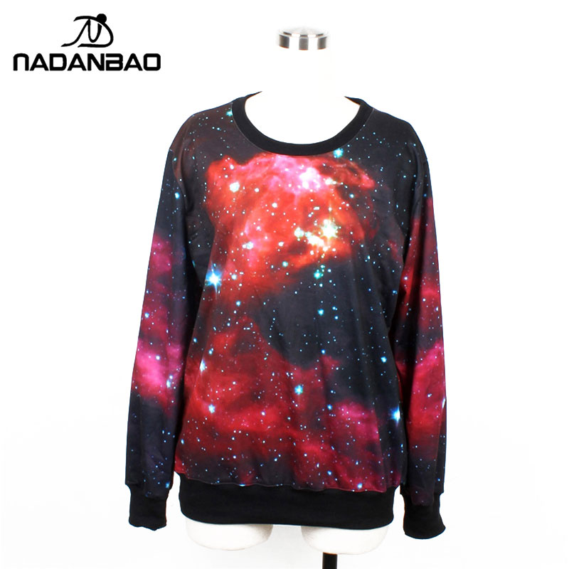NADANBAO Autumn Womens plus size Winter Woman Hoodies Fashion Woman sweatershirts galaxy red casual pullovers Woman Clothing
