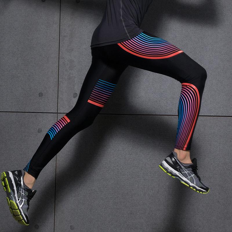 Hot Sales! New Push-up Leggings Summer Men Women Skinny Elastic Patchwork Print Sporting Leggings Pants Fitness Clothing 11