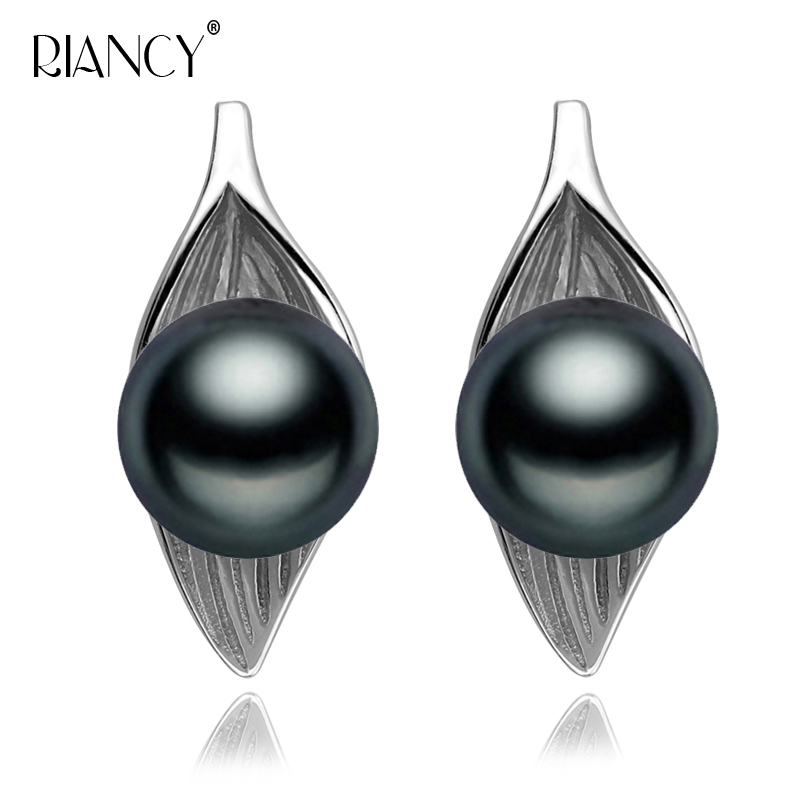 2019 Fashion new Pearl Earrings Natural Freshwater black Jewelry For Wemon Wedding Gift