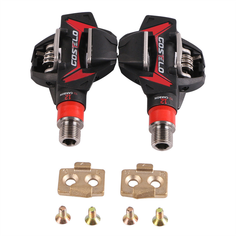 COSTELO Titan Carbon Mtb Moubntain Bike Pedals with cleats