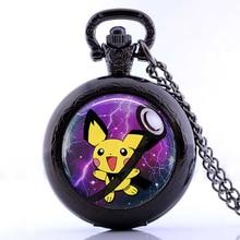 2016 New DIY Anime Jewelry Pichu Pokemon Pokeball Pocket Watch Necklace Best Friend Pendants