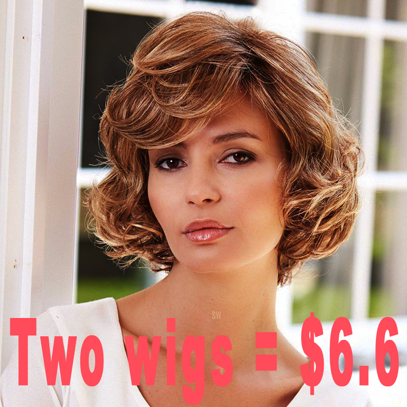 Promotion Synthetic Fake Hair Wigs Female Synthetic Short