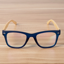 Wooden Bamboo Frame Clear Glasses