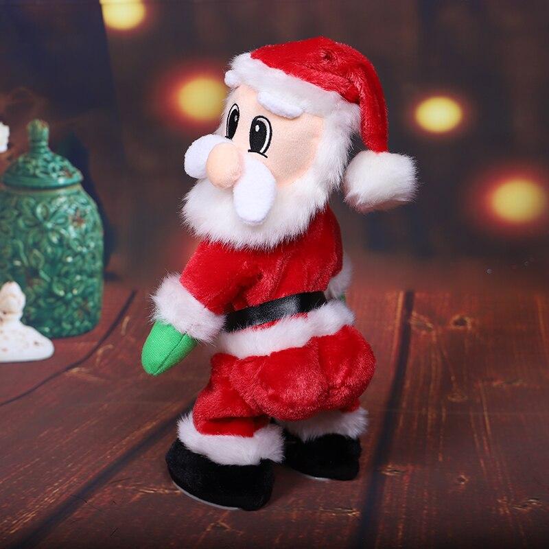 Musique père noël danse en peluche poupée électrique danse chantant jouet cadeau de noël décoration de la maison HOYVOY - 3
