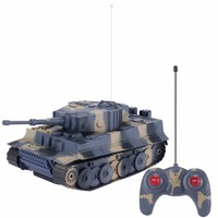 1:24 4CH Simulation RC Battle Tanks Toys For Boys VI Heavy Tanks Turret Rotation Light & Music Remote Control Tank Kids Toy Gift