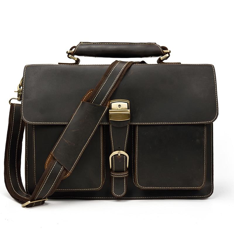 HTB1btXAQMHqK1RjSZFEq6AGMXXaJ MAHEU Luxury Fashion 100% Genuine Leather Men Briefcase Cow Leather Laptop Bag Vintage Shoulder Bag Real Cowhide Computer Bag