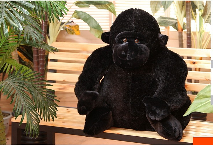 new big plush big Ape king kong toy creative black orangutan toy gift about 70cm gilbert e big magic creative living beyond fear