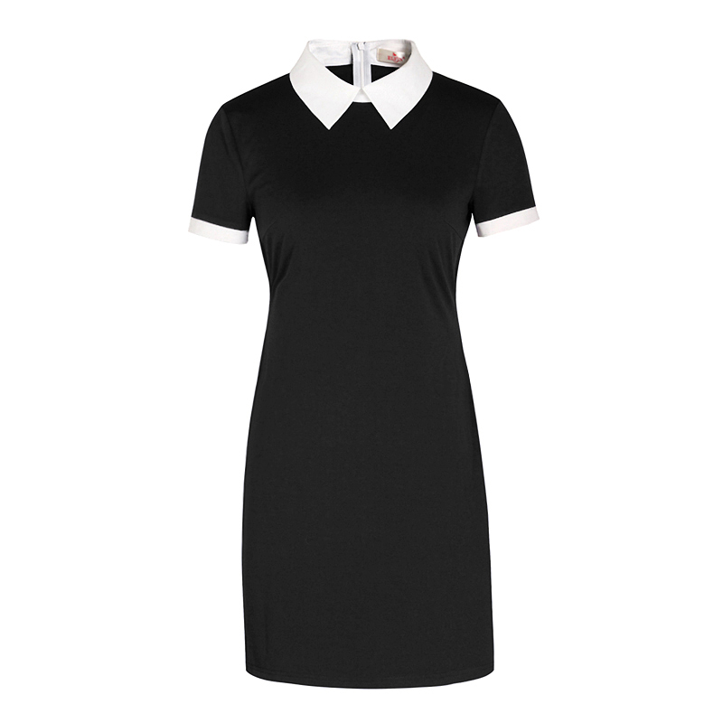 4fd2d8f15 School Sundress Elegant Women Vestidos Peter Pan Collar Dresses ...