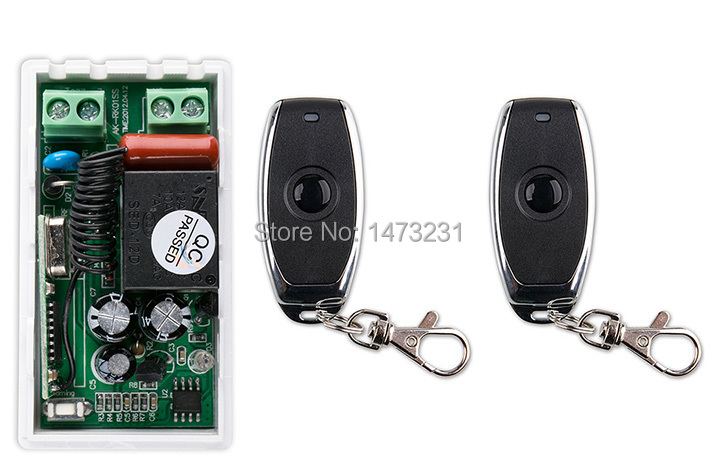 latest AC 220 V 1CH Wireless Remote Control Switch System 1pcs Receiver +2pcs one-button metal Remote 315mhz/433mhz wireless pager system 433 92mhz wireless restaurant table buzzer with monitor and watch receiver 3 display 42 call button