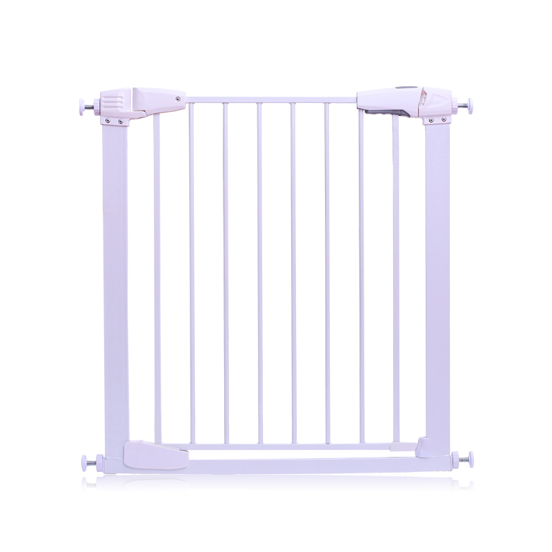 Free ship white color metal iron gate baby safety gate pet isolation fence 75-82cm width ...
