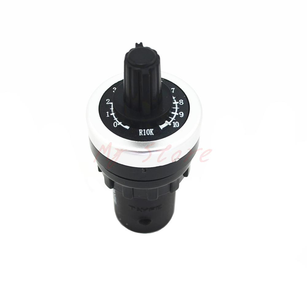 цена на Rotary switch LA42DWQ-22 22mm 1K 2K 5K 10K Ohm Variable Speed Drive Potentiometer vsd pot