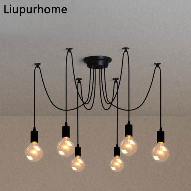 Us 38 54 Aliexpress Led Modern Retro Nordic Pendant Lamp Diy E27 Spider Adjule Lighting Para Kitchen Restaurant Chandelier Fixture