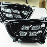 Gloss Model 12v LED Car DRL Daytime Running Light Bumper Front Fog Lamp With Dimming Style