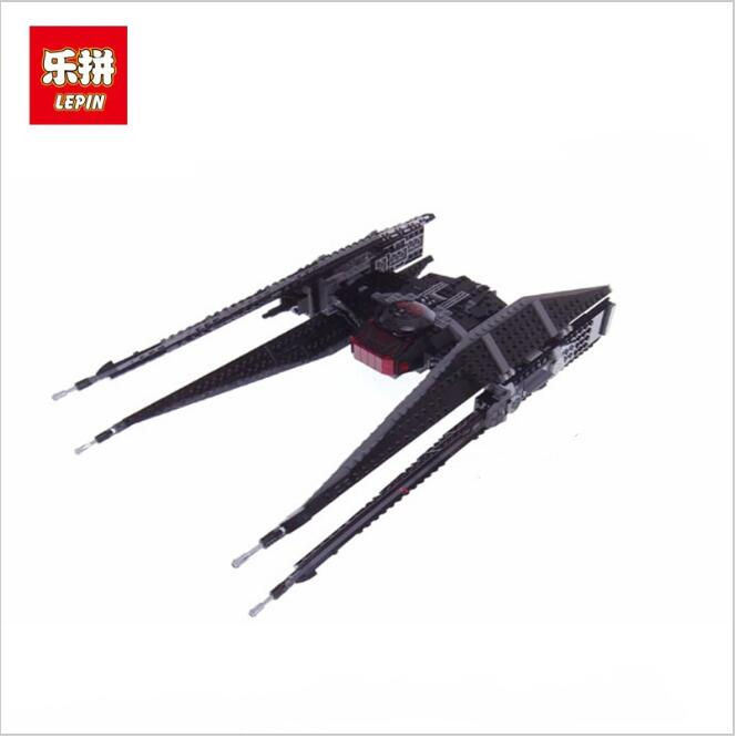 Lepin 05127 The Tie Model Fighter Set Star Series War 75179 Building Blocks Bricks kits Educational DIY Christmas Gift 2015 high quality spaceship building blocks compatible with lego star war ship fighter scale model bricks toys christmas gift