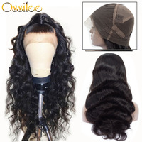 Full Lace Human Hair Wigs Body Wave Lace Front Human Hair Wigs Pre Plucked Full Lace Wigs Human Hair with Baby Hair Ossilee Remy