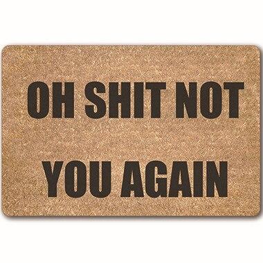 Image 2 - CAMMITEVER протрите свои лапы коврик Забавный коврик Добро пожаловать пол приходит в ковер для гостиной выйдите спальня Tapete 40x60 см Резина-in Коврик from Дом и животные