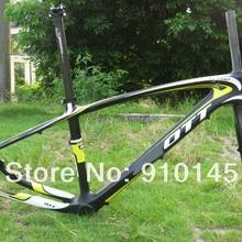 Специальный поступление!! 29er рама карбоновая для горного велосипеда+ жесткая вилка черный/белый/желтый