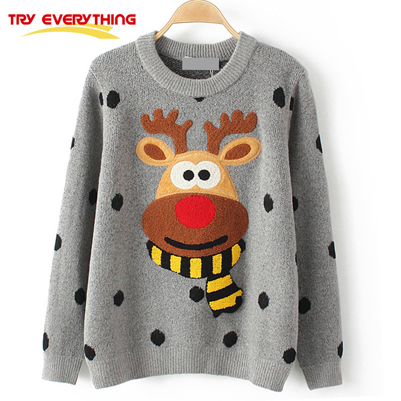 TryEverything Women Winter Knitted Pullover Sweater Female