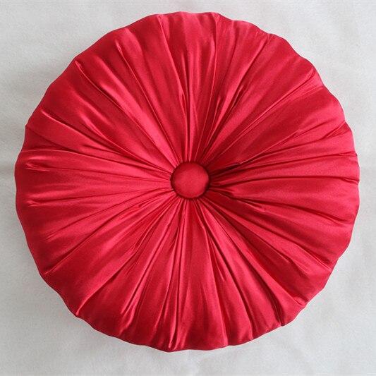 VEZO HOME handmade red sofa chair seat satin round cushion ...