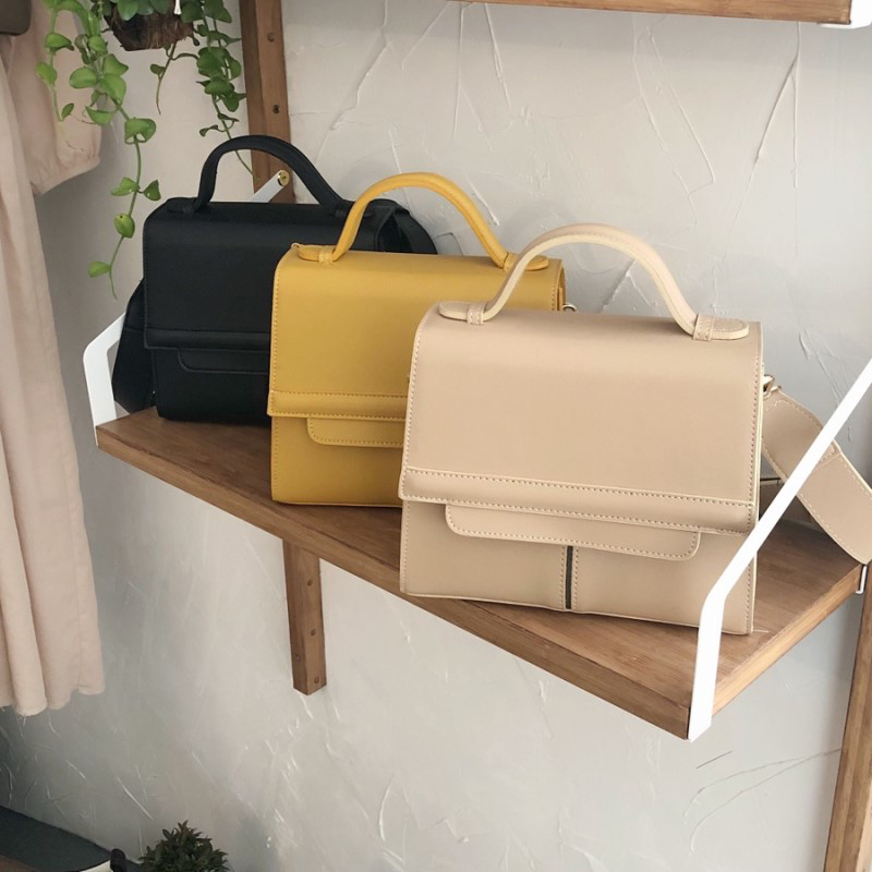 fashion women crossbody bags designer handbags luxury pu leather female shoulder bag wide strap small flap summer purse ins 2019 in Shoulder Bags from Luggage Bags