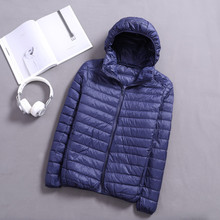 Autumn and Winter Light Down Jacket Hood Mens Clothing Porta