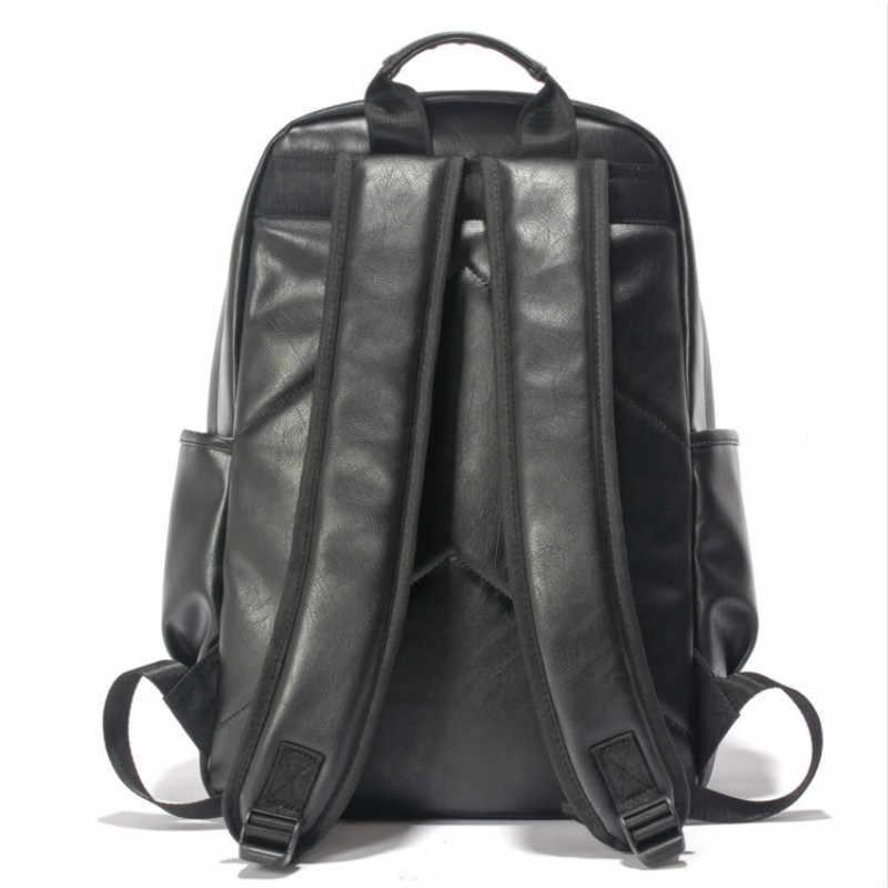 Известный бренд элегантный дизайн кожа Школа Рюкзак Сумка для Колледж студент простой Дизайн Для мужчин Повседневное Daypacks Mochila мужской новый