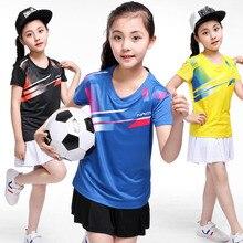 Tenis masculino для девочек, детская рубашка для настольного тенниса, с короткими рукавами для игры в настольный теннис, футболка, Детская рубашка для бадминтона, Полиэстеровые футболки pingpong
