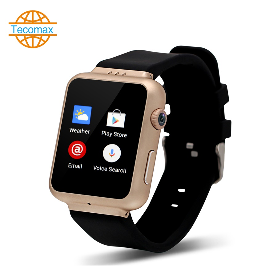 2016 New Fashion Android font b smartwatch b font Wifi smart watch 512MB 4GB MTK6572 GPS