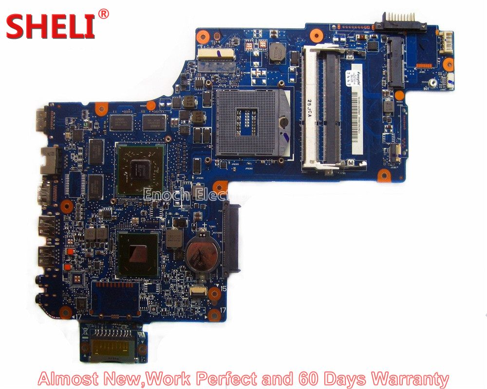 SHELI H000041510 Laptop Motherboard For Toshiba Satellite C870 C875 L870 L875 S875 HM76 PLF/PLR/CSF/CSR DSC HD 7610M Main Board new h000041510 laptop motherboard for toshiba satellite c870 l870 17 3 7610m hd4000 ddr