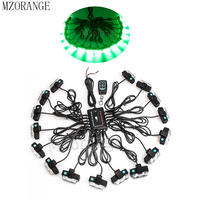 MZORANGE 16x2 LED Strobe Lights 32 LED Remote Control Wireless Car Grille Flash Lights Auto Warning Grille Lamp