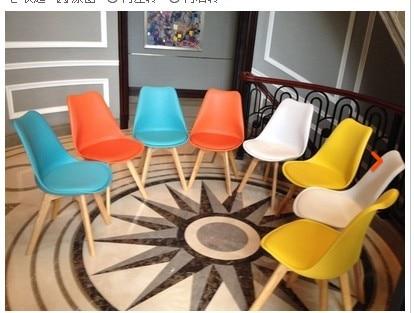 aliexpress koop fashion 100 houten plastic pu stoel wit