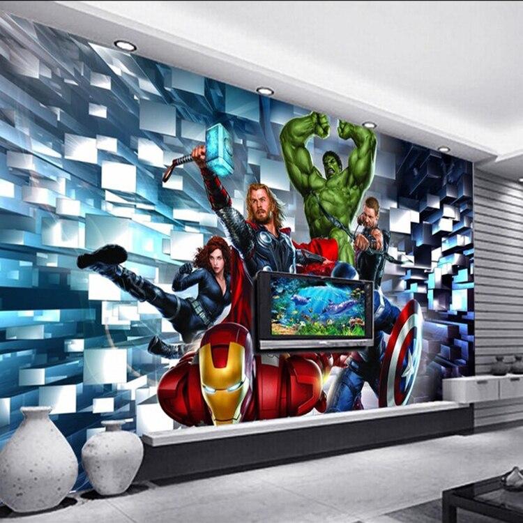 Aliexpress com Buy Free shipping 3D non woven wallpaper TV backdrop  wallpaper murals TV living room. Avengers Wallpaper For Bedroom
