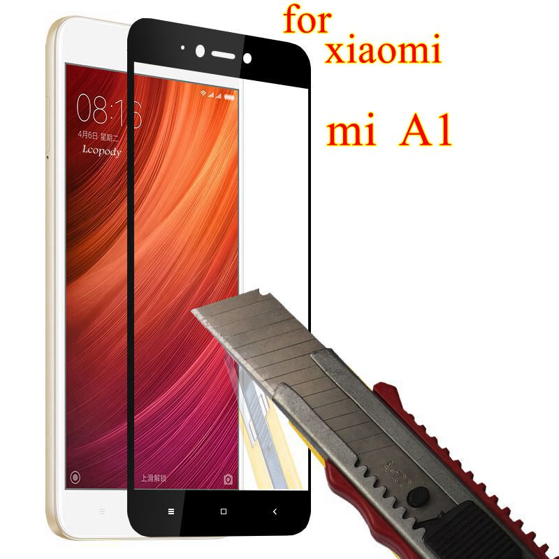 Full Cover Screen Protector for <font><b>Xiaomi</b></font> Mi A1 Tempered <font><b>Glass</b></font> on for Xiami Phone Mi A 1 Tempered <font><b>Glass</b></font> for <font><b>Xiaomi</b></font> <font><b>MiA1</b></font> Mi A1 glas image
