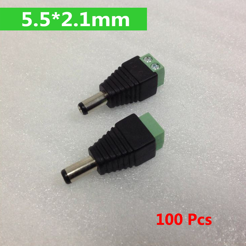 100Pcs Mini Coax CAT5 Male BNC Connector To Camera CCTV BNC Video Balun Connector Adapter bnc м клемма каркам