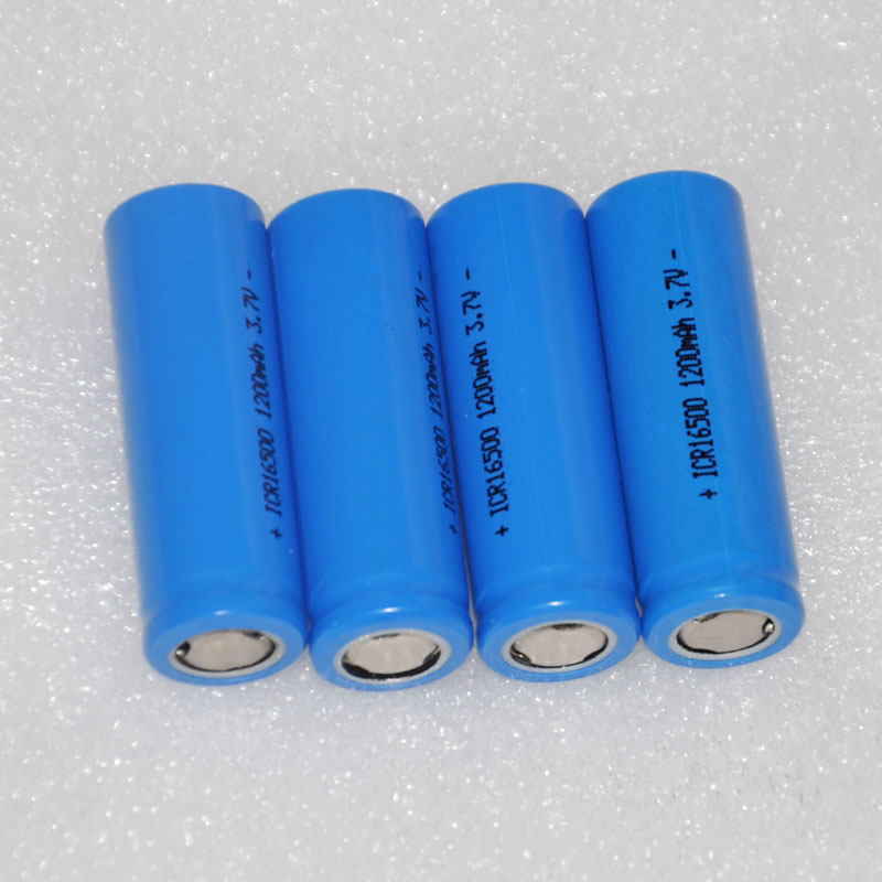 2 3 4 5pcs ICR 3.7v 16500 17500 rechargeable lithium ion battery li-ion cell 1200MAH for LED flashlight torch and speaker