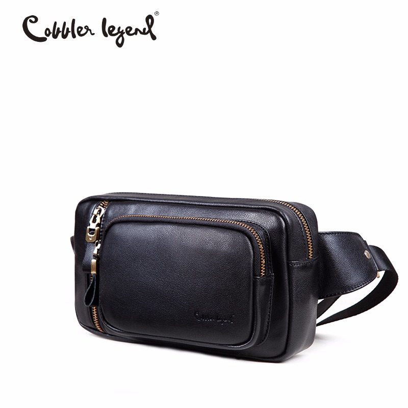 Cobbler Legend Flap Genuine Leather Men Bag Cowhide Crossbody Bag For Man Messenger Bags Waist Casual Shoulder Handbags 2018 цена