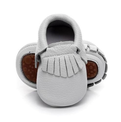 2019 New hot sale Solid Genuine Leather Girl Boys handmade Toddler hard sole first walkers baby leather Shoes 20 colors 2