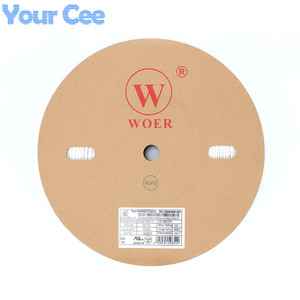 Image 3 - 롤 200 m 2:1 열 수축 튜브 Sleeving 케이블 백색 UL SGS 2mm 3mm 4mm