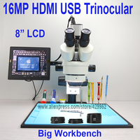 efix 16MP 3.5 90X 8 inch Soldering Trinocular Stereo Microscope Stand Lens HDMI USB Digital Camera for Repair Mobile Phone Tools