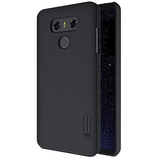 NILLKIN Ultra Slim Case für LG G6 Matt Schild Matte Harte Abdeckung Anti Slip Zurück Shell w/ free Screen Protector + Im Einzelhandel Paket
