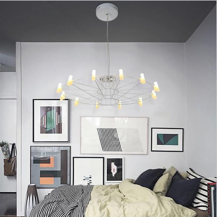 Nordic современный подвесной светильник черный/белый шесть птица Освещение Подвеска светильник E27 110 В 220 В для декора висит светильники