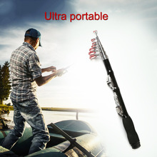 Mini Telescopic Short Fishing Rod Portable Hand Hard Carbon Fiber Sea Fishing Pole Ultralight Casting Rod Sea Pole Fishing Reel