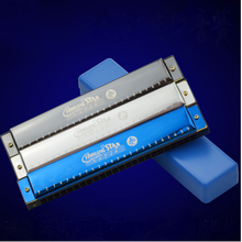 Harmonica Tremolo 24 Holes Mouth Organ Instrumentos Harmonica Key C Blues Harp 24 Music Instruments  Mouth organ Feihuang 2403