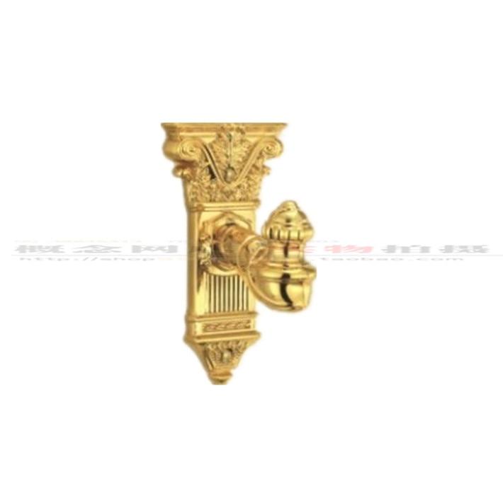 TAIGOOD Thick Copper Bathroom Toilet C 24K Gold Pendant Towel Hanging Hook LU918-04GP