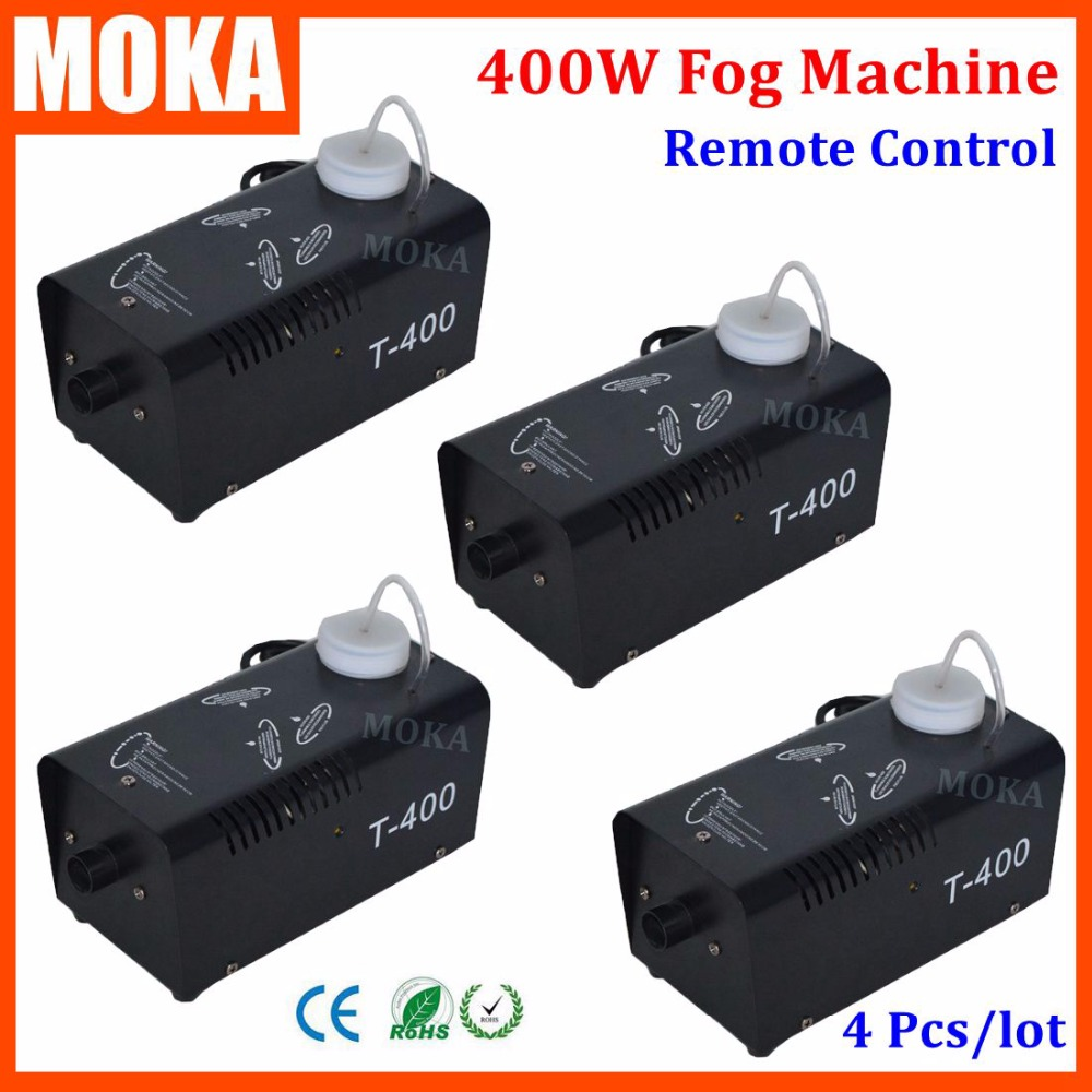 4 Pcs/lot 400w Fog Machine Vertical Smoke Machine mini wireless remote control haze machine Professional Fogger Stage Equipment