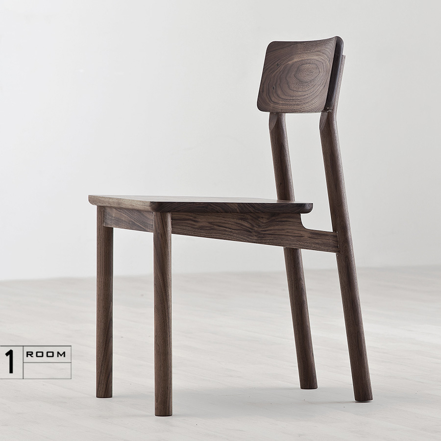 room good tired type solid wood chair dining chair chair modern minimalist tenon nordic ch177 natural side chair walnut ash