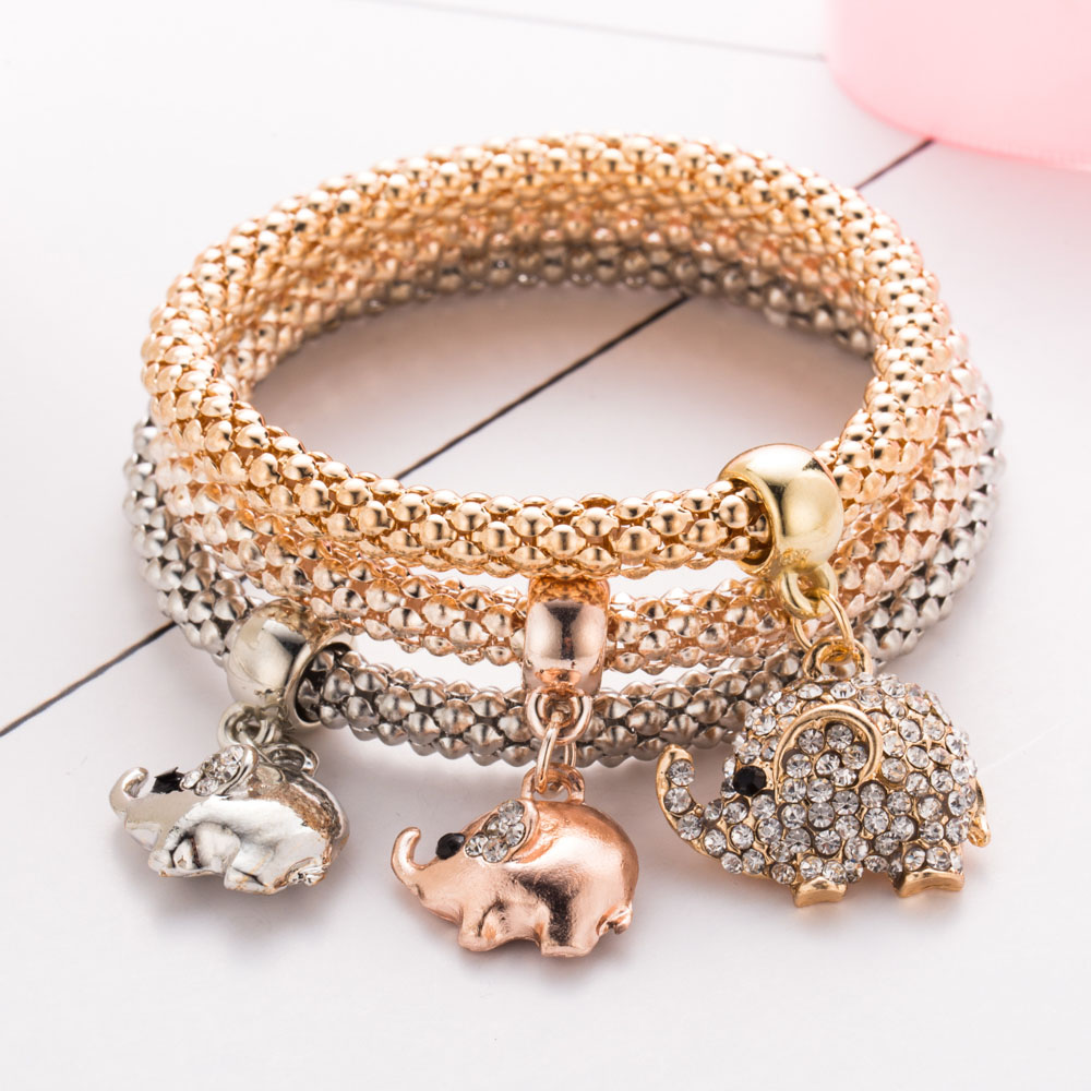 Watch Romantic DIY Rhinestone Wrapped Charm Bracelet video